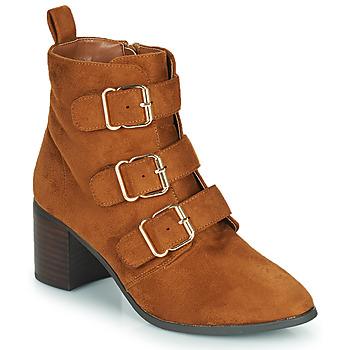 Pantofi Femei Cizme casual Moony Mood PAOLA Camel