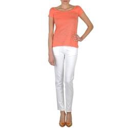 Îmbracaminte Femei Jeans slim Calvin Klein Jeans JEAN BLANC BORDURE ARGENTEE Alb