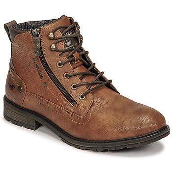 Pantofi Bărbați Ghete Mustang 4140501 Coniac
