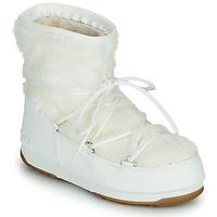 Pantofi Femei Cizme de zapadă Moon Boot MOON BOOT MONACO LOW FUR WP 2 Alb
