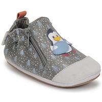 Pantofi Băieți Botoșei bebelusi Robeez BLUE PINGUINS Gri