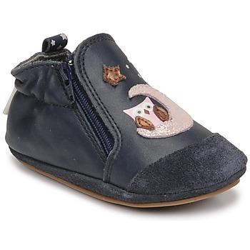 Pantofi Fete Botoșei bebelusi Robeez NICE OWL Albastru
