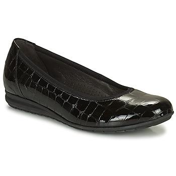 Pantofi Femei Balerin și Balerini cu curea Gabor 7262087 Negru
