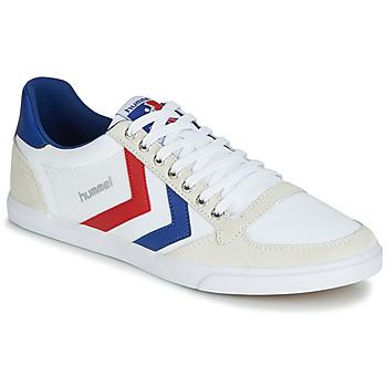 Încăltăminte Pantofi sport Casual Hummel TEN STAR LOW CANVAS Alb / Roșu / Albastru