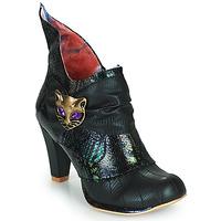 Pantofi Femei Botine Irregular Choice MIAOW Negru / Verde