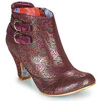 Pantofi Femei Botine Irregular Choice THINK ABOUT IT Bordo
