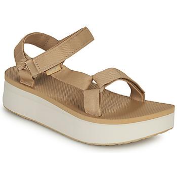 Pantofi Femei Sandale  Teva Flatform Universal Bej / Alb