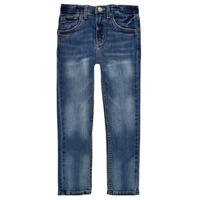 Îmbracaminte Băieți Jeans skinny Levi's 510 SKINNY FIT EVERYDAY PERFORMANCE JEANS Albastru / Culoare închisă