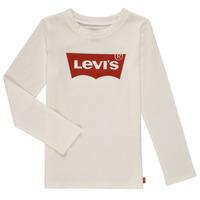 Îmbracaminte Fete Tricouri cu mânecă lungă  Levi's LS BATWING TEE Alb