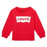Îmbracaminte Băieți Tricouri cu mânecă lungă  Levi's L/S BATWING TEE Roșu