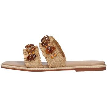 Pantofi Femei Papuci de vară Alma Blue V21BL9001 BEIGE