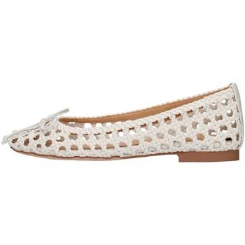 Pantofi Femei Balerin și Balerini cu curea Alma Blue V21BL8102 WHITE