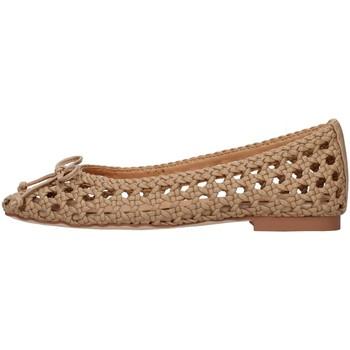 Pantofi Femei Balerin și Balerini cu curea Alma Blue V21BL8102 BEIGE