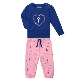 Îmbracaminte Fete Compleuri copii  Guess ANISSA Roz / Albastru