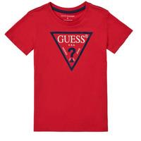 Îmbracaminte Băieți Tricouri mânecă scurtă Guess THERONN Roșu