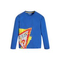 Îmbracaminte Băieți Tricouri cu mânecă lungă  Guess LISTIN Albastru