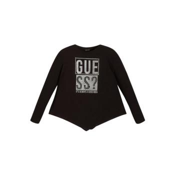 Îmbracaminte Fete Tricouri cu mânecă lungă  Guess UPSET Negru