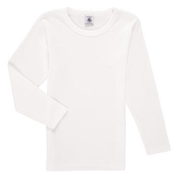 Îmbracaminte Băieți Tricouri cu mânecă lungă  Petit Bateau KELOMA Alb