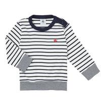 Îmbracaminte Băieți Tricouri cu mânecă lungă  Petit Bateau IGRAE Alb / Albastru