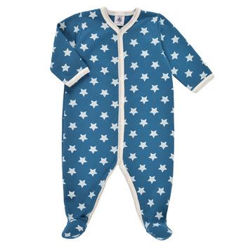 Îmbracaminte Băieți Pijamale și Cămăsi de noapte Petit Bateau SOLARIE Albastru / Alb