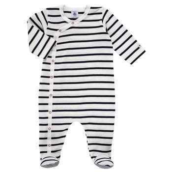 Îmbracaminte Copii Pijamale și Cămăsi de noapte Petit Bateau ONZER Alb / Albastru