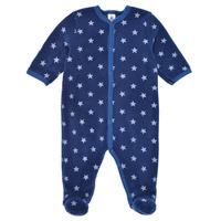Îmbracaminte Băieți Pijamale și Cămăsi de noapte Petit Bateau BENIR Albastru / Alb