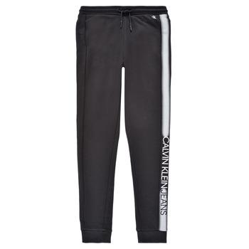 Îmbracaminte Băieți Pantaloni de trening Calvin Klein Jeans RESPIRA Negru