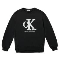 Îmbracaminte Fete Hanorace  Calvin Klein Jeans POLLI Negru
