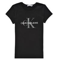 Îmbracaminte Fete Tricouri mânecă scurtă Calvin Klein Jeans VOYAT Negru