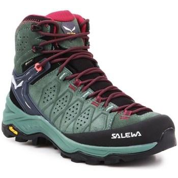 Pantofi Femei Drumetie și trekking Salewa WS Alp Trainer 2 Mid Gtx Negre, Verde