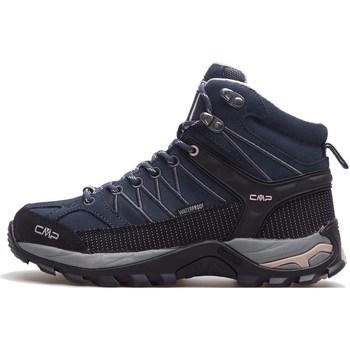 Pantofi Femei Drumetie și trekking Cmp Rigel Mid Wmn WP Negre, Albastru marim