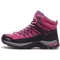 Pantofi Femei Drumetie și trekking Cmp Rigel Mid Wmn WP Negre, Roz