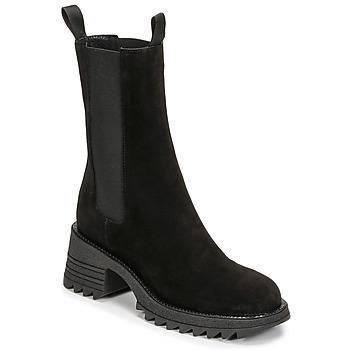 Pantofi Femei Botine Mimmu CAMOSCIO Negru