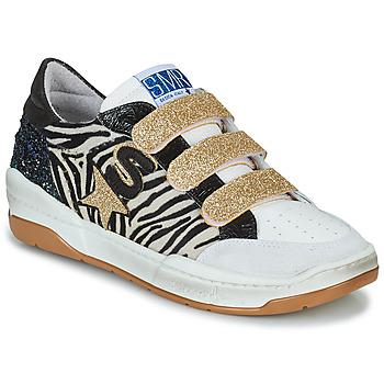 Pantofi Femei Pantofi sport Casual Semerdjian GOETH Negru / Alb / Auriu