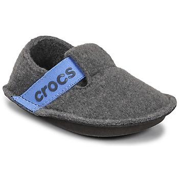 Pantofi Copii Papuci de casă Crocs CLASSIC SLIPPER K Gri / Albastru