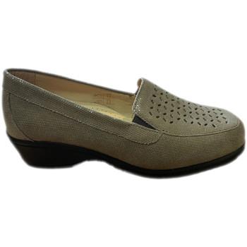 Pantofi Femei Mocasini Calzaturificio Loren LOK4013ta tortora