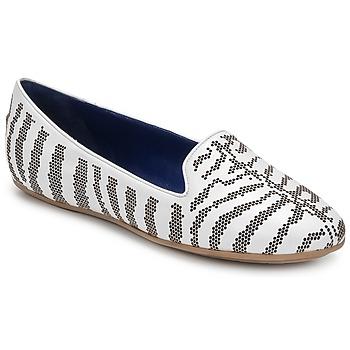 Pantofi Femei Mocasini Roberto Cavalli TPS648 Alb