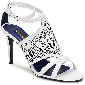 Pantofi Femei Sandale  Roberto Cavalli TPS016 Alb