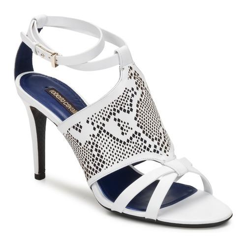 Pantofi Femei Sandale și Sandale cu talpă  joasă Roberto Cavalli TPS016 Alb