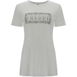 Îmbracaminte Femei Tricouri mânecă scurtă Freddy S1WALT2 Alb