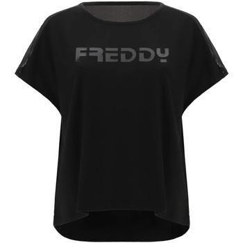 Îmbracaminte Femei Tricouri mânecă scurtă Freddy S1WTBT3 Negru