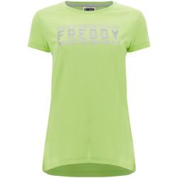 Îmbracaminte Femei Tricouri mânecă scurtă Freddy S1WCLT2 Verde