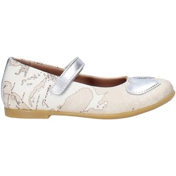 Pantofi Fete Balerin și Balerini cu curea Alviero Martini 0596 0934 Alb