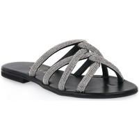 Pantofi Femei Papuci de vară Mosaic IMPRESS Nero