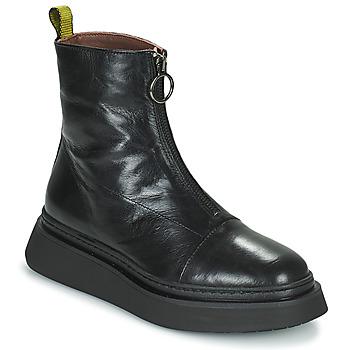 Pantofi Femei Ghete Mjus BASE ZIP Negru