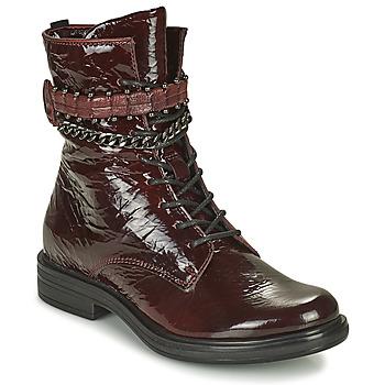 Pantofi Femei Ghete Mjus CAFE PATENT Bordo