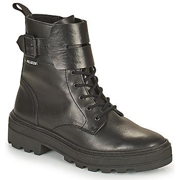 Pantofi Femei Ghete Palladium Manufacture CULT 03 NAP Negru