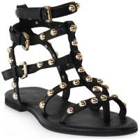 Pantofi Femei Sandale  Mosaic 1600 VITELLO NERO Nero