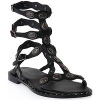 Pantofi Femei Sandale  Mosaic 3030 VITELLO NERO Nero