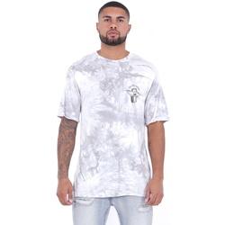 Îmbracaminte Bărbați Tricouri mânecă scurtă Sixth June T-shirt  Custom Tie Dye blanc/rose
